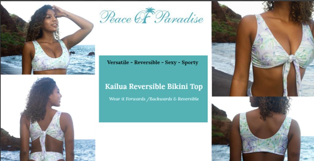 4969fbef77 A Kailua Reversible -Adjustable allows multiple Looks Bralet Bikini ...