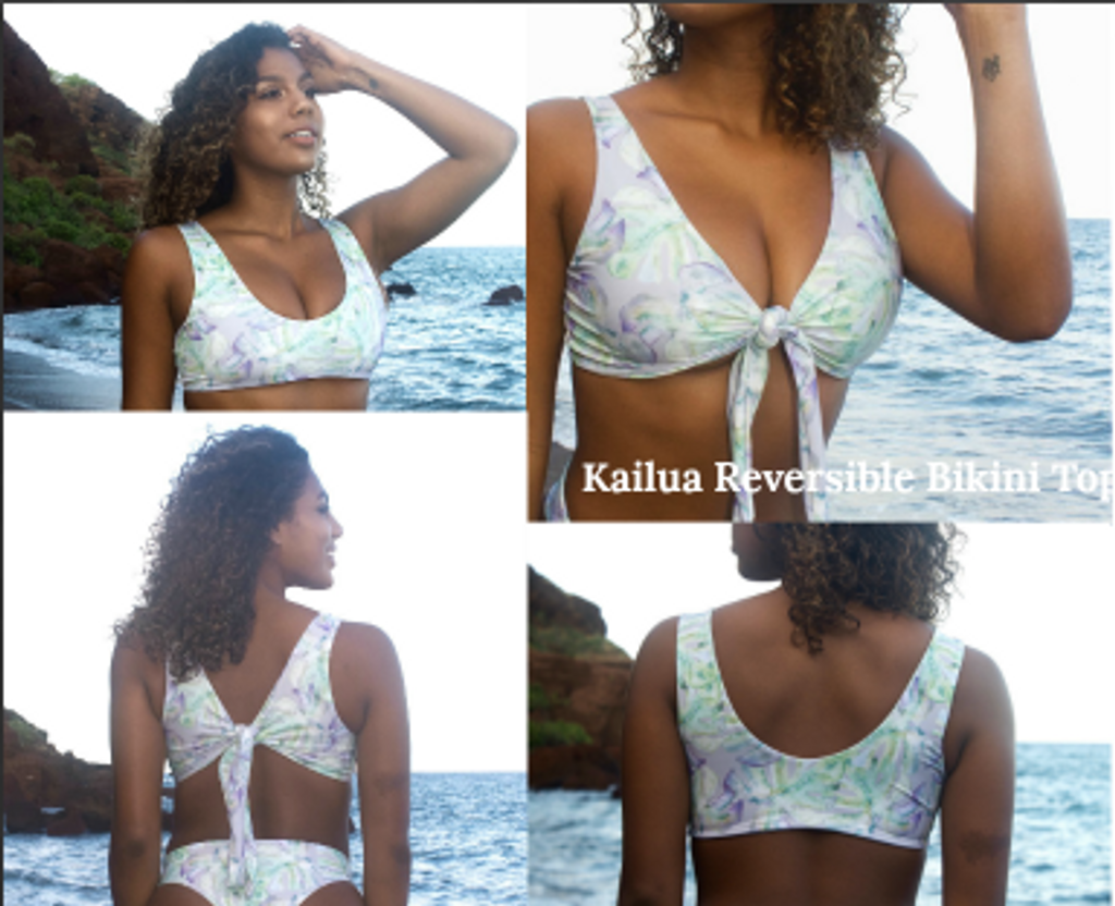 3ff2dfc7a9 A Kailua Reversible -Adjustable allow multiple Looks Bralet Bikini ...