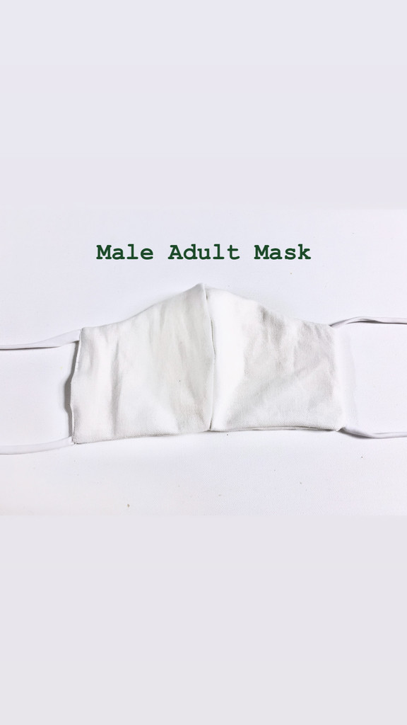Male Adult Face Mask (v20FH)  with Opening for add on Filter - Filter Not Included - Cotton Double Layer - Reversible - Adjustable Ear Ties- Instructions: WASH BEFORE WEARING (Ships Free to USA ONLY with Coupon Code: FreeShipFaceMask