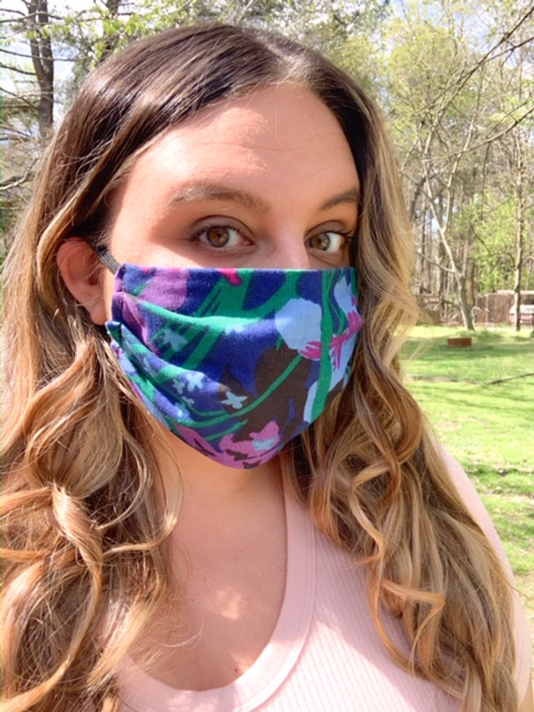 Adult Face Mask (v21) - Cotton Double Layer - Reversible - Adjustable Instructions: WASH BEFORE WEARING (Ships Free to USA ONLY with Coupon Code: FreeShipFaceMask)