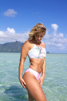 A Lihue REVERSIBLE Halter lace-up All Sizes Available BATHING suit TopCustomize Size & Choose from 50+ Fabrics