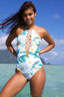 A Waikani Reversible Corset High Neck Halter 1 Pc Custom Made in Hawaii  Choose from 50+ Fabrics