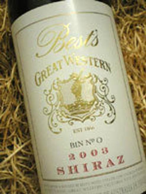 Best's Great Western Bin 0 Shiraz 2001