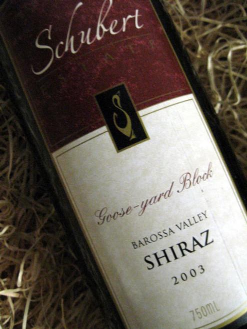 Schubert Estate Goose Yard Block Shiraz 2003