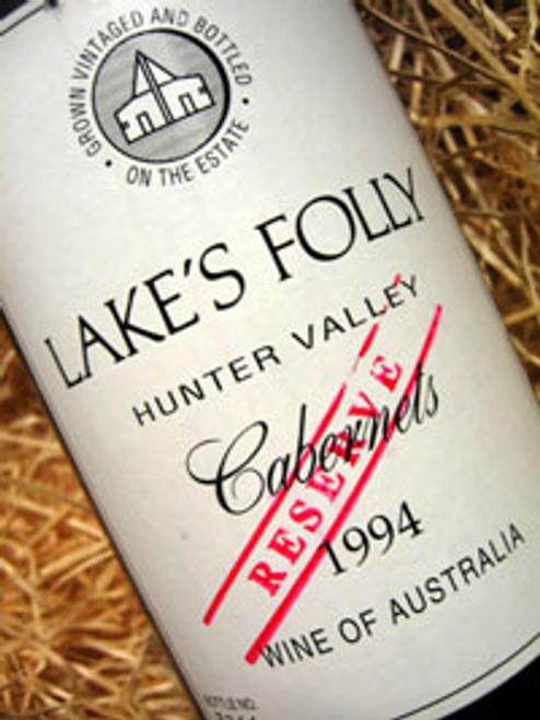 Lake's Folly Reserve Cabernet 1994