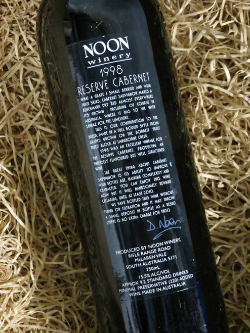 [SOLD-OUT] Noon Winery Reserve Cabernet Sauvignon 1998