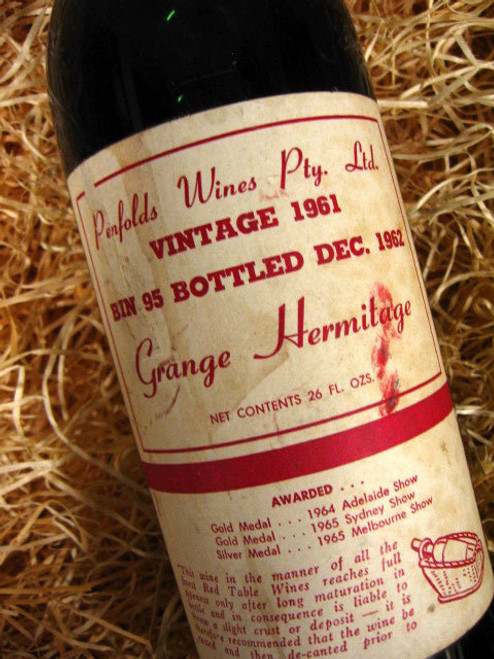 Penfolds Grange 1961 (Minor Damaged Label)