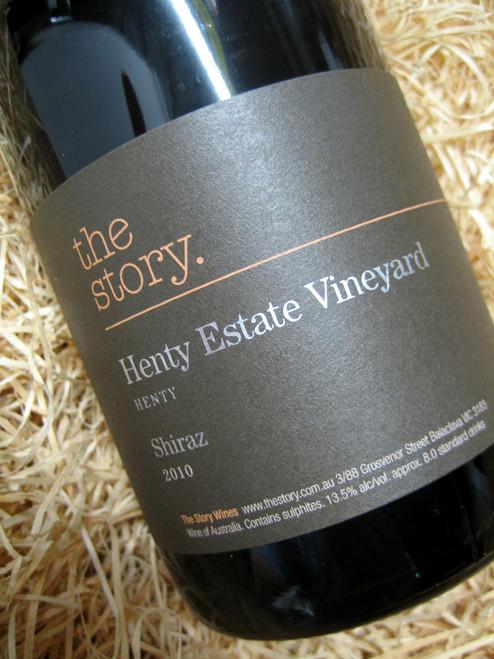 The Story Henty Vineyard Shiraz 2010