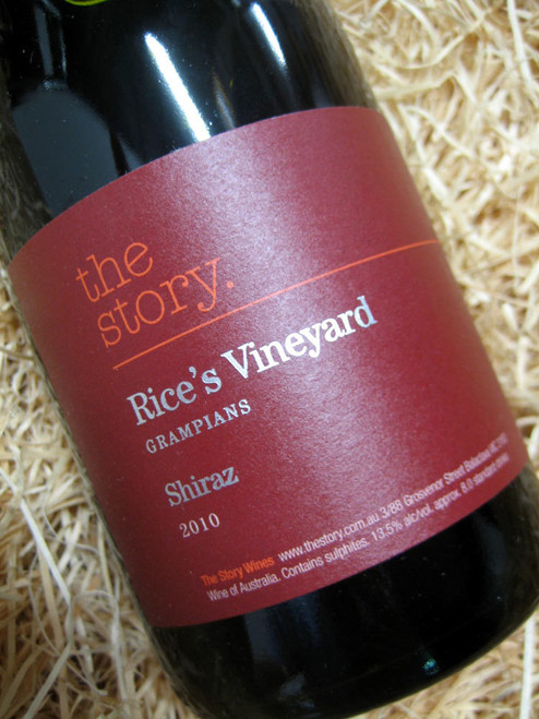 The Story Rice's Vineyard Shiraz 2010