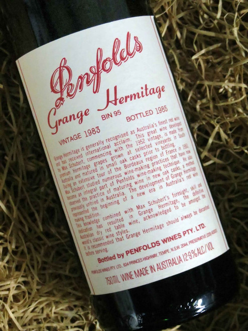 [SOLD-OUT] Penfolds Grange 1983 (Base of Neck Level) (Minor Damaged Label)