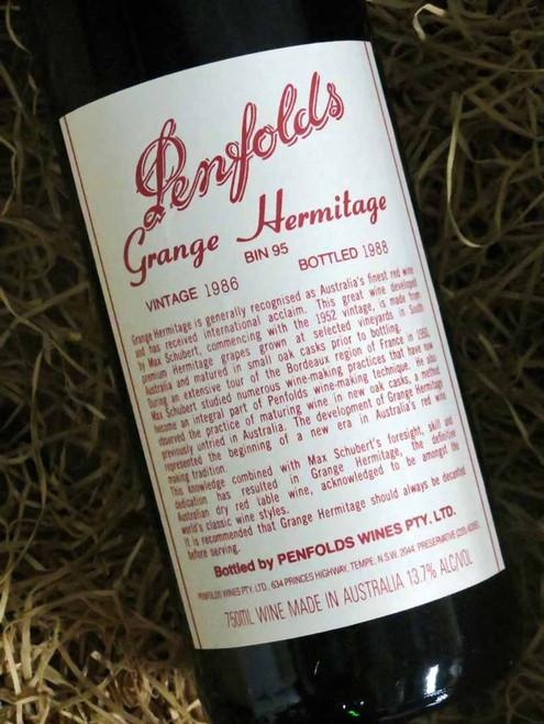 [SOLD-OUT] Penfolds Grange 1986 (Base of Neck Level)