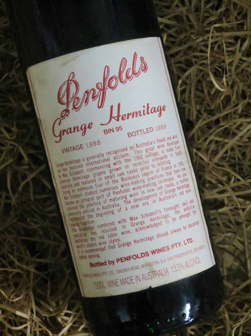[SOLD-OUT] Penfolds Grange 1988 (Base of Neck Level) (Damaged Label)