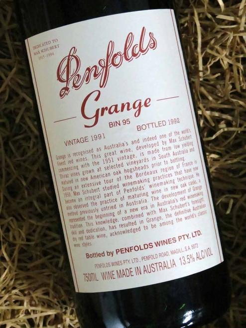 [SOLD-OUT] Penfolds Grange 1991 (Minor Damaged Label)