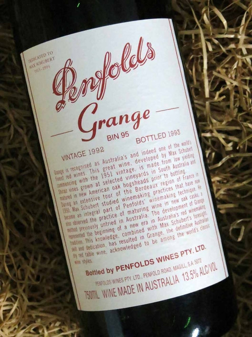Penfolds Grange 1992 (Minor Damaged Label)