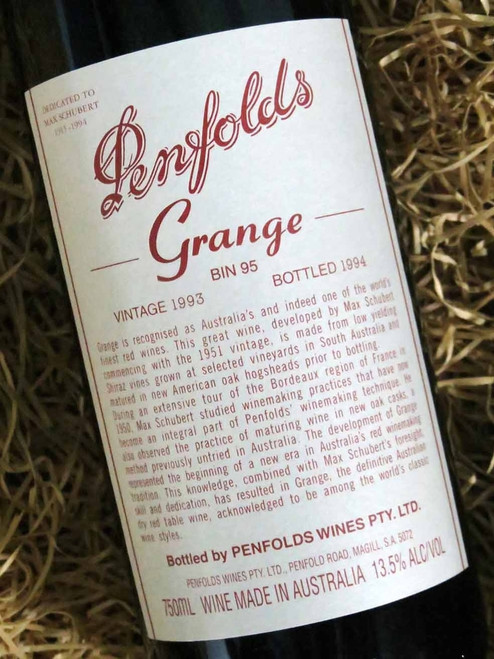 Penfolds Grange 1993 (Minor Damaged Label)