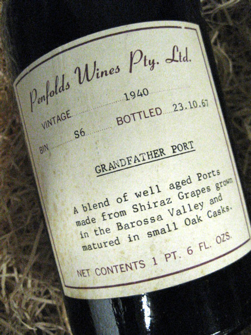 Penfolds Grandfather Vintage Port 1940 (Minor Damaged Label)
