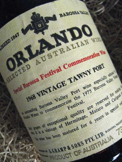 Orlando Tawny Port 1968 Barossa Festival