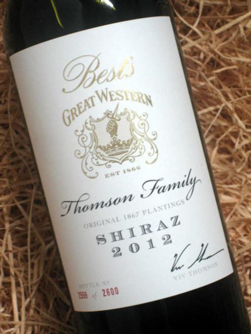 Best's Thomson Family Shiraz 2012