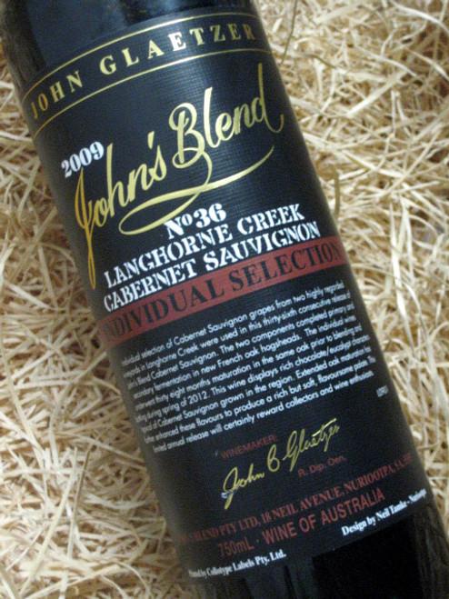 John Glaetzer John's Blend No 36 Cabernet Sauvignon 2009