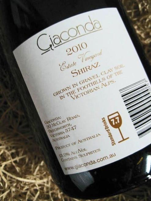 Giaconda Shiraz Estate Vineyard 2010