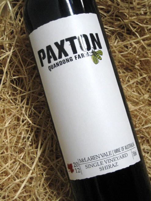 Paxton Quandong Farm Shiraz 2012