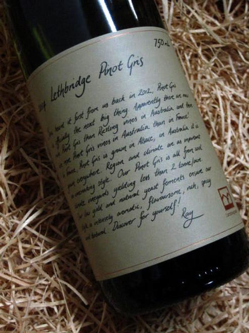 Lethbridge Pinot Gris 2014