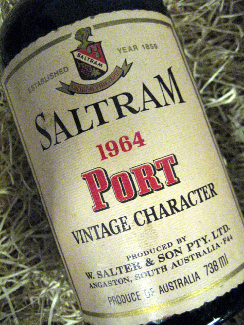 Saltram Vintage Port 1964 Character (Minor Damaged Label)