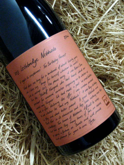 [SOLD-OUT] Lethbridge Nebbiolo 2013