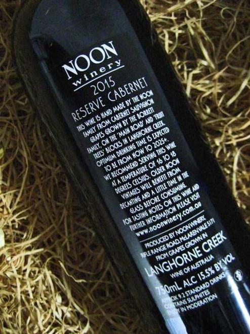 Noon Winery Reserve Cabernet Sauvignon 2015