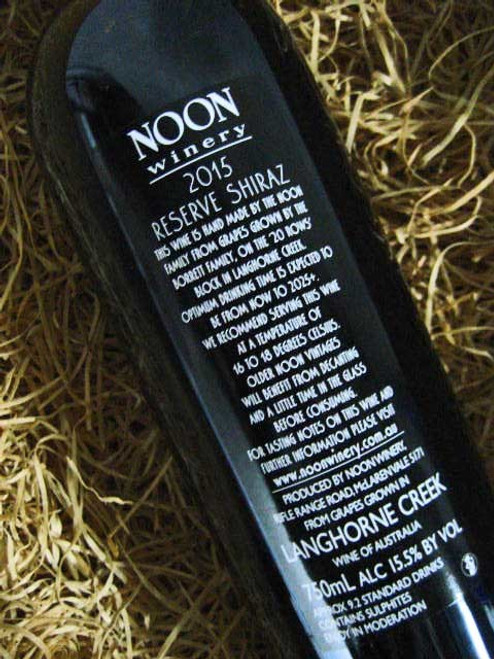 Noon Winery Reserve Shiraz 2015