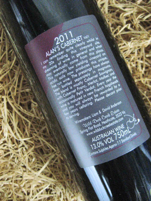 [SOLD-OUT] Wild Duck Creek Alan's Cabernet Sauvignon 2011 VAT 1