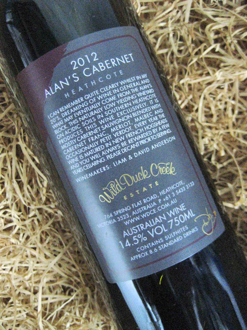 [SOLD-OUT] Wild Duck Creek Alan's Cabernet Sauvignon 2012