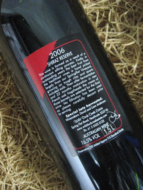 [SOLD-OUT] Wild Duck Creek Reserve Shiraz 2006 1500mL-Magnum