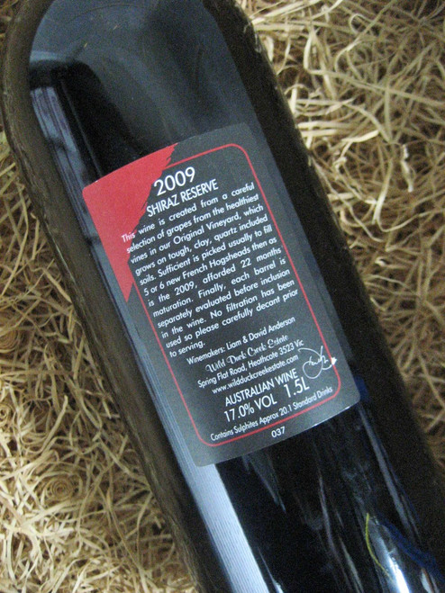 [SOLD-OUT] Wild Duck Creek Reserve Shiraz 2009 1500mL-Magnum