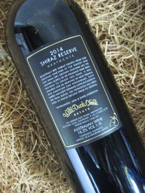 [SOLD-OUT] Wild Duck Creek Reserve Shiraz 2014 1500mL-Magnum
