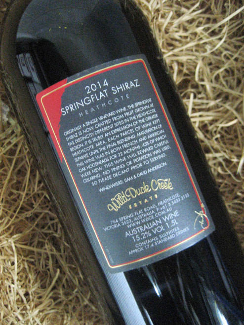 [SOLD-OUT] Wild Duck Creek Springflat Shiraz 2014 1500mL-Magnum