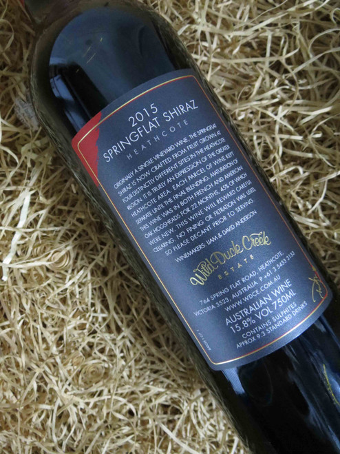 [SOLD-OUT] Wild Duck Creek Springflat Shiraz 2015