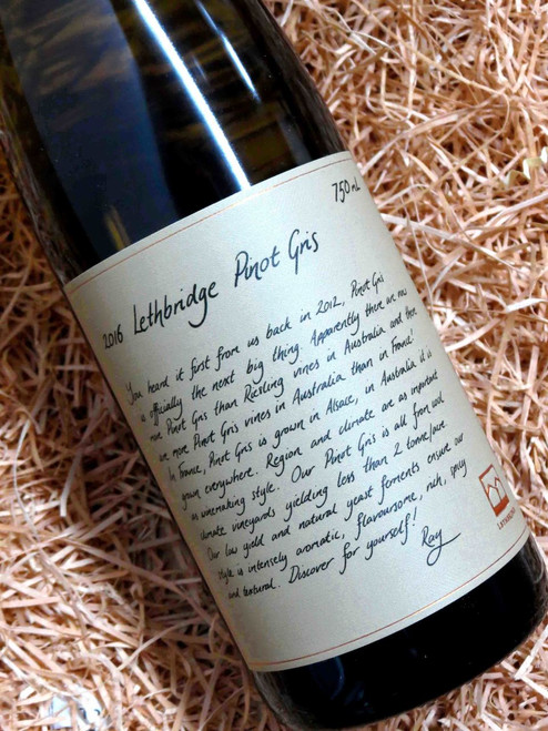 [SOLD-OUT] Lethbridge Pinot Gris 2016