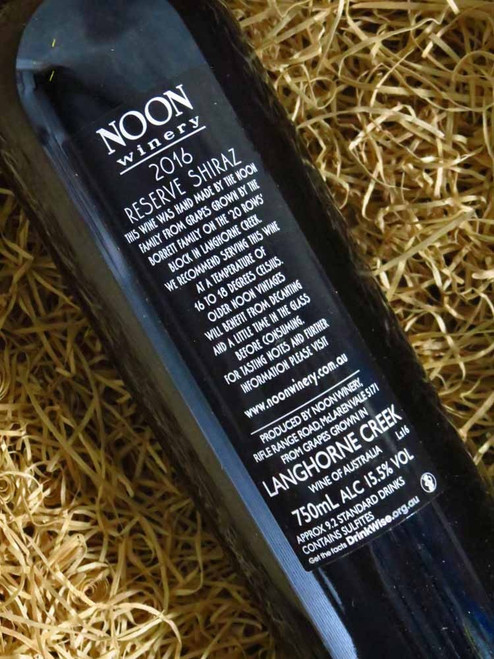 Noon Winery Reserve Shiraz 2016