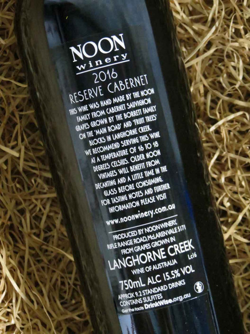 Noon Winery Reserve Cabernet Sauvignon 2016