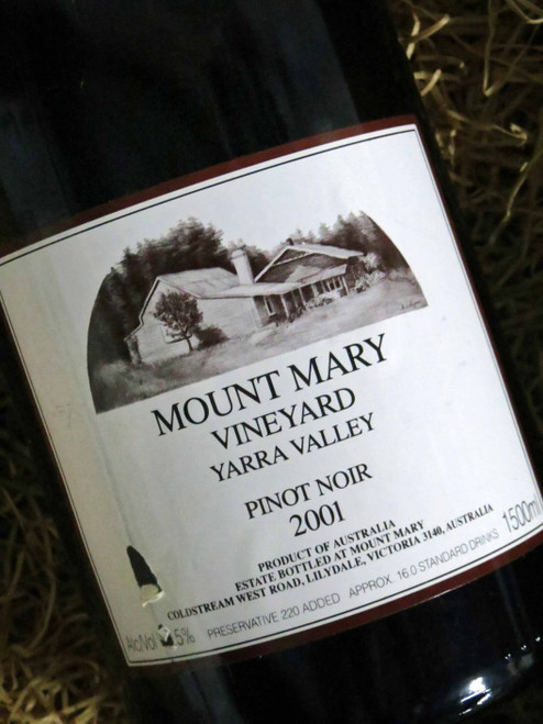 [SOLD-OUT] Mount Mary Pinot Noir 2001 1500mL-Magnum (Minor Damaged Label)