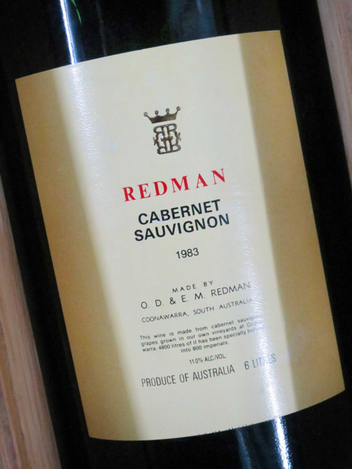 [SOLD-OUT] Redman Cabernet Sauvignon 1983 Imperial