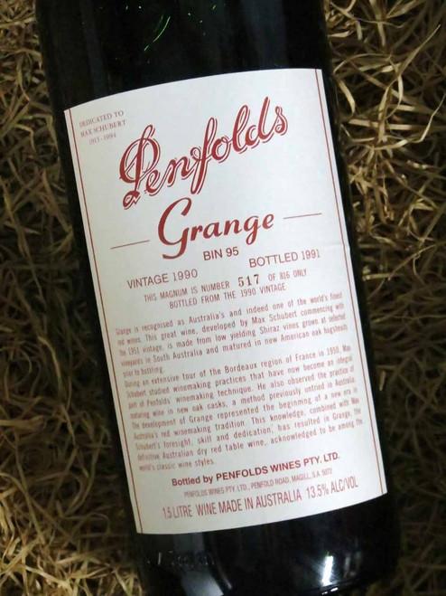 [SOLD-OUT] Penfolds Grange 1990 1500mL-Magnum