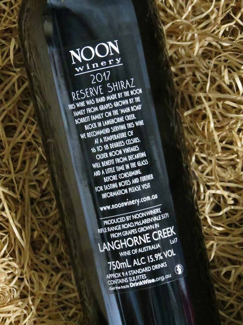 Noon Winery Reserve Shiraz 2017