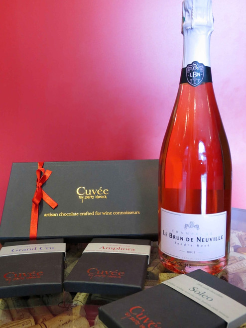 Rose Champagne and Chocolate Pack