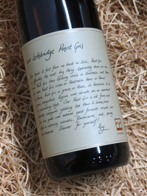 [SOLD-OUT] Lethbridge Pinot Gris 2018