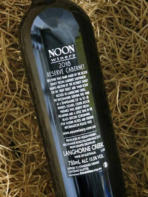 Noon Winery Reserve Cabernet Sauvignon 2018