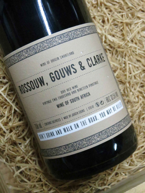 [SOLD-OUT] Rossouw Gouws & Clarke Pinotage 2019