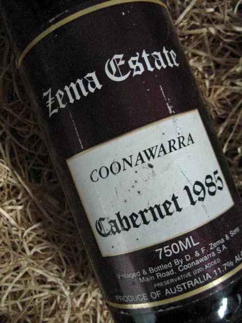 Zema Estate Coonawarra Cabernet Sauvignon 1985