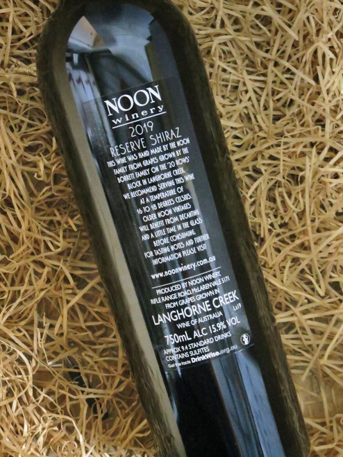 Noon Winery Reserve Shiraz 2019